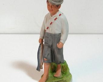 Norman Rockwell Gone Fishing Boy Figurine