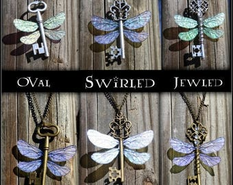 Summer SALE Flying Winged Key Themed Necklace