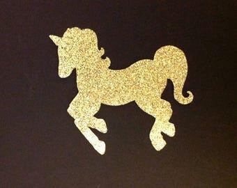 Custom listing for Karla Glitter unicorn die cut in any color set of 6