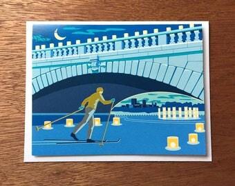 Luminary Loppet Card, Minneapolis, Minnesota