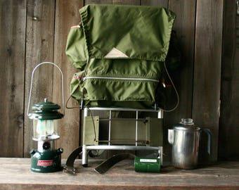 Backpack on Frame Kelty Pack Green Glandale California Vintage From Nowvintage on Etsy