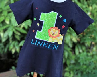 Lion First Birthday Outfit - Personalized Lion Romper - Jungle Party - Safari Party - Wild at One Party - Fun to Be One Party - Lion Shirt