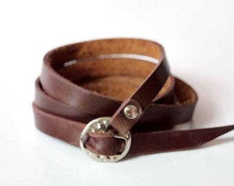 Brown Leather Cuff Leather Bracelet Wrap Leather Bracelet