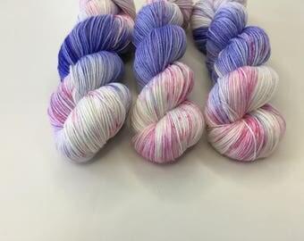Hand dyed Merino/Silk Sock Yarn - Candy Floss