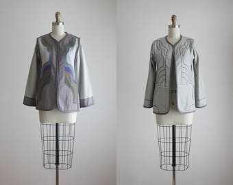 1970s reversible arts & crafts jacket