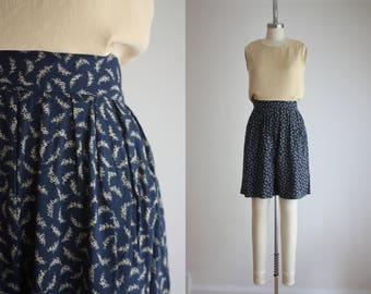 high waisted botanical shorts