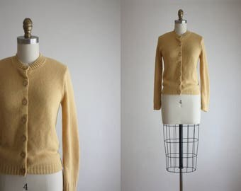1950s golden honey cardigan