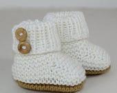 40% OFF SALE madmonkeyknits - Baby Unisex Booties knitting pattern pdf download - Instant Digital File pdf knitting pattern