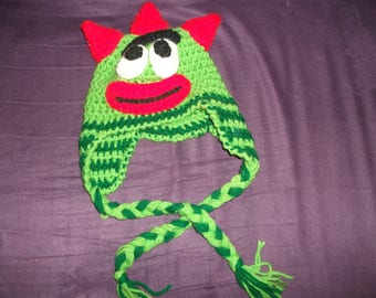 Yo Gabba Gabba winter Brobee hat