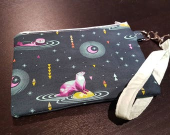 Space Otters Wristlet Bag