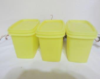 Tupperware Shelf Savers Set of 3 Sunny Yellow