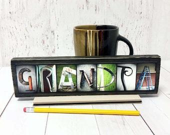 Grandpa Gift Wood Sign, Grandpa to Be, Grandpa Birthday, Grandparents Day Gift, Father's Day, New Grandpa Gift, Pregnancy Reveal to Grandpa