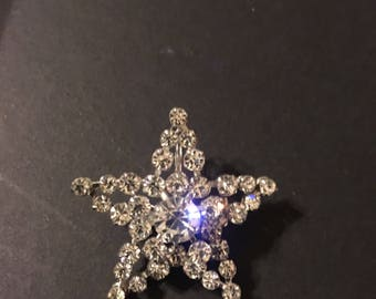 Christmas star pendant brooch vintage