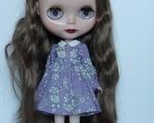 Sweet Little Girl dress for Blythe - Purple