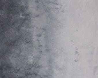 Hand Dyed Gradient Fabric - Gray Skies