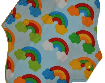 Light Core- Geo Rainbows Reusable Cloth Pantyliner Pad- 8.5 Inches