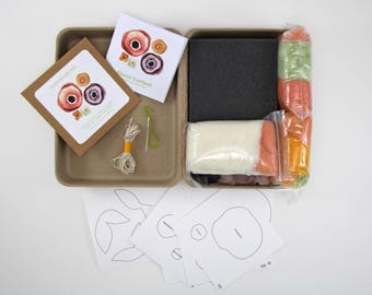 DIY Felted Flower Garland Kit, DIY Felting Kit