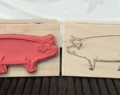 Piggy rubber stamp from oldislandstamps