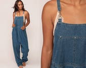 Overalls Pants 90s Denim Pants USA Dungarees Grunge Wide Leg Baggy Coveralls Long Jean Pants Hipster Carpenter Extra Large xl