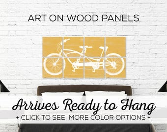 Large Tandem Bicycle Wall Art - Large Bike Decor - Custom Made Print Collection