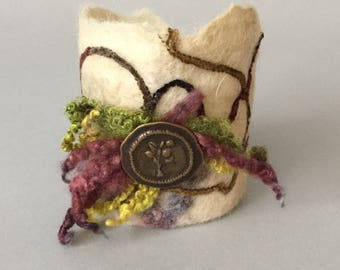Tree of Life Felted Cuff