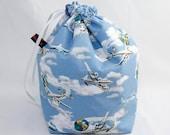 Midi Project Bag - Planes