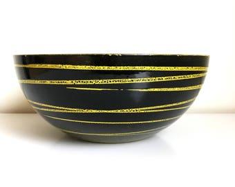 Rare Yellow Saturn Cathrineholm Enamelware Bowl