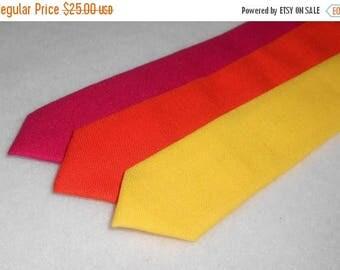 Pink, Orange, or Yellow Skinny Tie - Men's, Teen, Tween, Youth          2 weeks before shipping