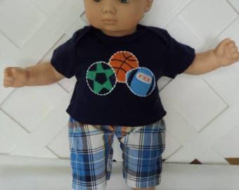 Bitty Baby Boy 2 pc. cute  pants set, doll clothes