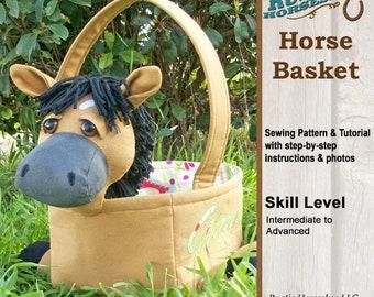 Horse Basket Easter Basket Sewing Pattern and Tutorial