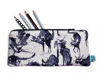 Spooky Black Cat Pencil Case