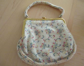 vintage beaded purse with change