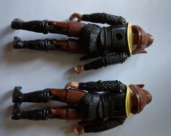 Buck Rogers Draconian guards pair action figure 1978 scifi science fiction