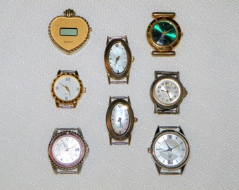 Watch Faces, Steampunk Parts, a DESTASH Eight Fashion Watch Faces for Recycling and Parts
