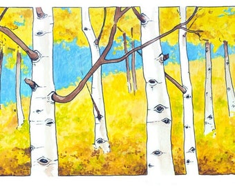 All from the same roots - Aspens (Populus tremuloides) archival print