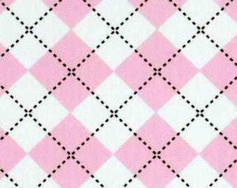 Pink Argyle By Anne Kelle For Robert Kaufman, Fabric By The Yard