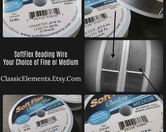 BLUE LABEL SoftFlex, Soft Flex, Choice of Fine or Medium, Soft Flex Beading Wire, Beading wire, 21 or 49 strand beading wire,
