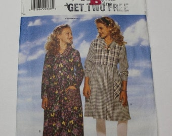 CLOSING SALE Butterick girls- fast and easy diy dress pattern - 4273 - make your own casual sunday dress  size s m l 7 8-10 and 12-14