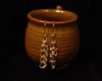 Sterling Silver Lacy Chain earrings