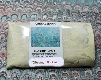 Marbled paper supplies   Carragheen moss seaweed, powdered- -  250 grams  - 0,55 pounds.-  575