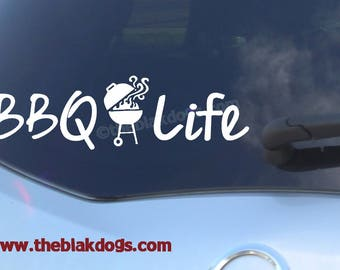 BBQ Life, Barbeque Life - vinyl sticker, car decal