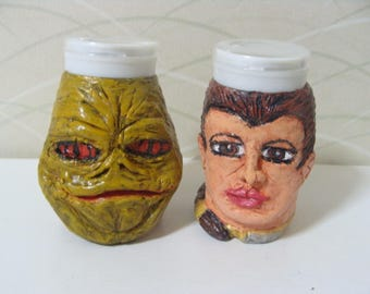 Space Slug Crime Boss and Space Princess Slave Girl S/PSet (Standard Size/heads) *Made To Order*