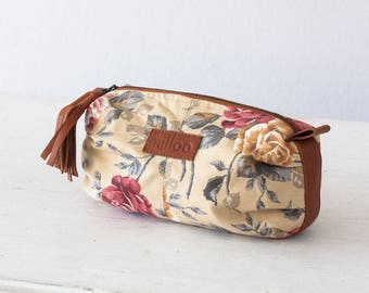 Accessory bag floral, cosmetic case makeup storage flower case storage utility toiletry case - Ariadne makeup bag