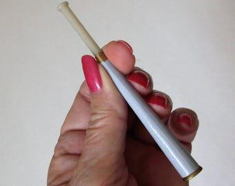 Ladies Art Deco Cigarette Holder..Bakelite (?) Tipped Cigarette Holder..Unique Art Deco Smoking Implement..1940s Cigarette Holder