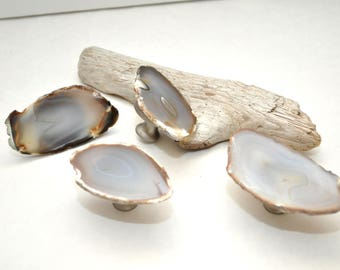 Agate Slice Cabinet Knobs - Set of 4 Ready to Ship