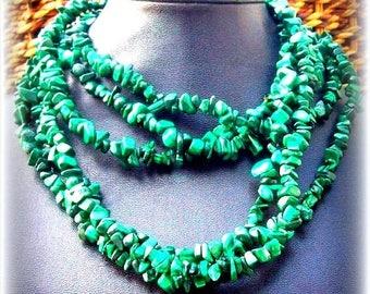 EPIC SALE ABUNDANCE Malachite necklace, long gemstone Malachite necklace, prosperity, good luck, beaded necklace, tribal, southwestern,nativ