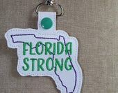 Florida Hurricane Irma Relief Efforts, Florida Strong Key Fob, Prayers for Florida, 100% of proceeds to local Florida Red Cross Relief Fund