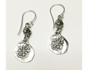 Sterling silver shipwreck earrings