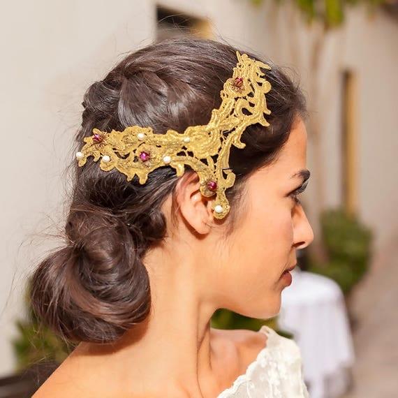 Wedding head piece DORA
