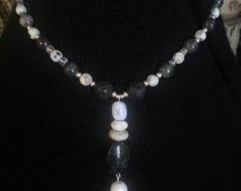 Handmade OOAK #22 beaded necklace